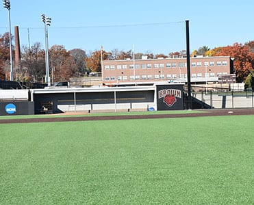 Brown University dugouts